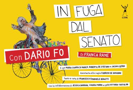 """Dario Fo """"in Fuga dal Senato"""""""